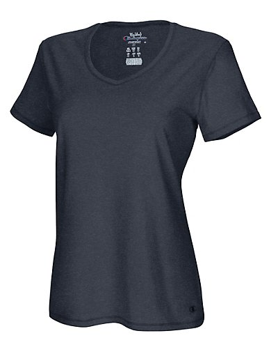 Champion 8875  Authentic Women's Jersey V-Neck Tee