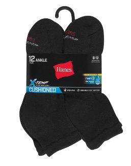 Hanes Men's FreshIQ® X-Temp® Active Cool® Ankle Socks 12-Pack men Hanes