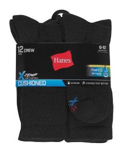 Hanes Men's FreshIQ® X-Temp® Active Cool® Crew Socks 12-Pack men Hanes