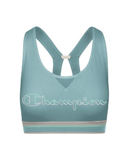 Champion The Authentic Print Sports Bra, Metallic Logo women Champion