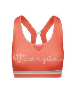 Champion The Authentic Print Sports Bra, Metallic Logo women Champion