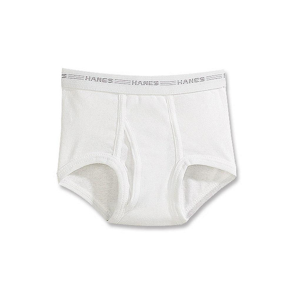 Hanes Boys' White Briefs Value 6-Pack