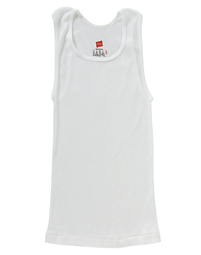 Hanes Boys' TAGLESS® ComfortSoft® Cotton A-Shirt 3-Pack - B3723N