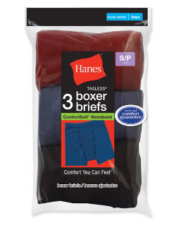 Hanes Boys' ComfortSoft® Dyed Boxer Briefs 3-Pack youth Hanes