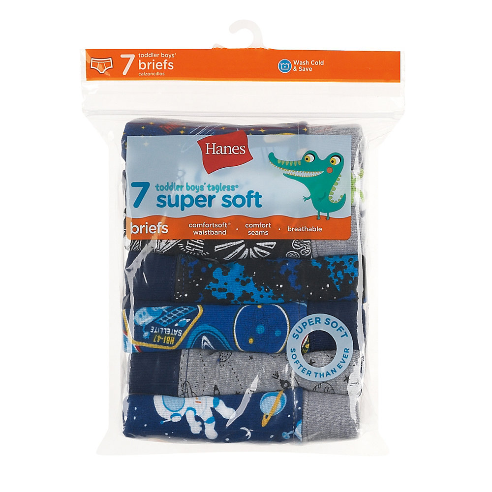 Hanes Toddler Boys' Briefs with ComfortSoft® Waistband 7-Pack youth Hanes