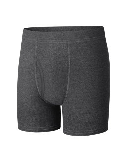 Boys' Hanes Ultimate Dyed Boxer Brief with ComfortSoft® Waistband Assorted Black & Grey 4-Pack youth Hanes