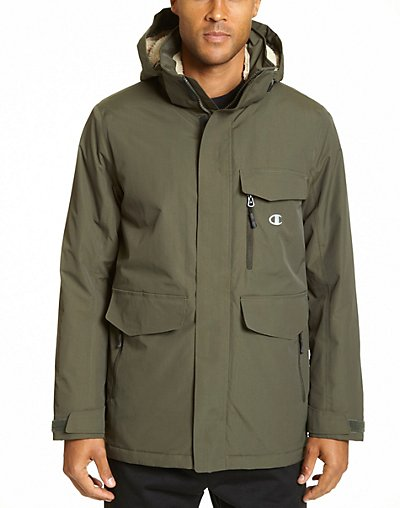 Champion Men's Big High Performance 2-Layer Jacket With Sherpa Lining - CH4006PP