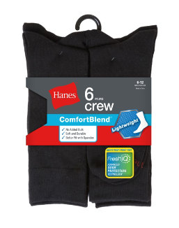 Hanes Men's Comfortblend Lightweight Casual Dress Socks P6 men Hanes