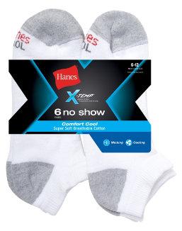 Hanes Men's X-Temp® Comfort Cool® No Show 6-Pack men Hanes