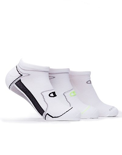 Champion CH210  Men's No-Show Running Socks 3-Pack