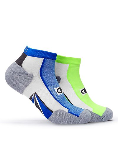Champion CH211  Men's Mid-Ankle Running Socks 2-Pack