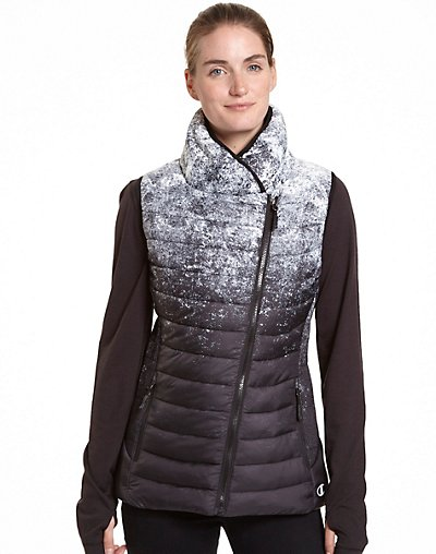 Champion Women's Assymetrical Zip Front Vest - CH7001PP