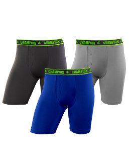 Champion Men's Active Performance Long Leg Boxer Brief 3-Pack CHALA1