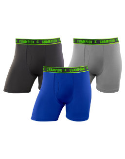 Champion Men's Active Performance Regular Leg Boxer Brief 3-Pack men Champion