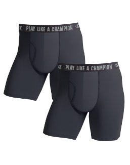 Champion Men's Ultra Lightweight Regular Leg Boxer Brief 2-Pack men Champion