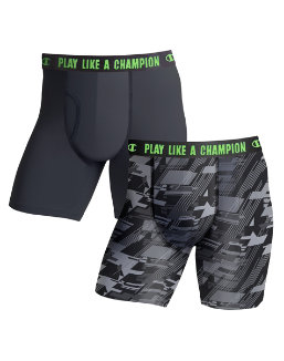 Champion Men's Ultra Lightweight Regular Leg Boxer Brief 2-Pack men Champion