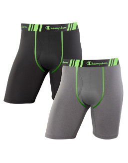 Champion Men's Tech Performance Long Leg Boxer Brief 2-Pack men Champion