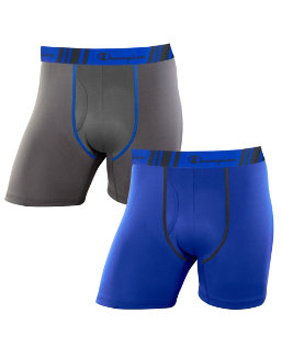 Champion Men's Tech Performance Regular Leg Boxer Brief 2-Pack men Champion
