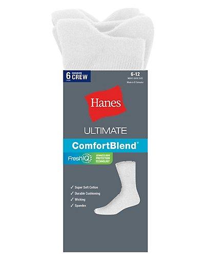 Hanes Classics Men's ComfortSoft® Crew Socks 6-Pack - CL84