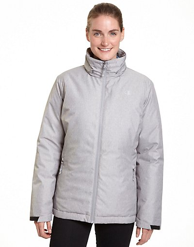 Champion Women's Plus Technical Heather 3-in-1 Jacket With Microfleece Liner CH3002PS