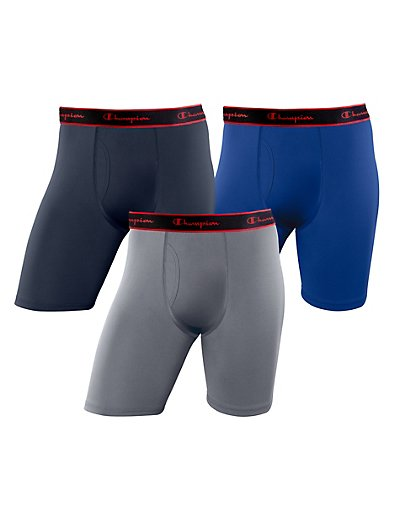 Champion Active Performance Long Boxer Brief 3-Pack - CPLBBG