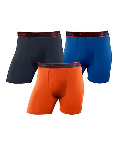 Champion Active Performance Regular Boxer Brief 3-Pack - CPRBBG