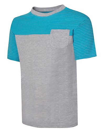 Hanes Boys' X-Temp Colorblocked SS Pocket Tee - D185