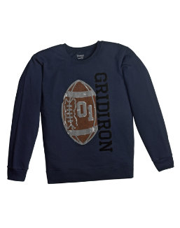 Boy's Graphic Crew Sweatshirt w/ FreshIQ youth Hanes