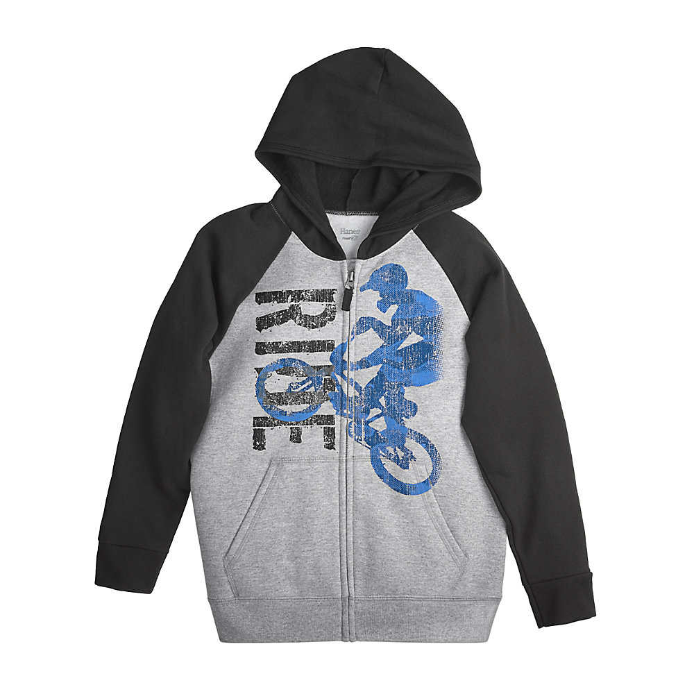 Boy's Graphic Full Zip Hoodie w/FreshIQ