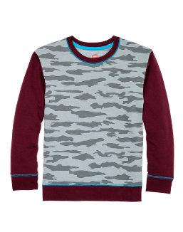 Hanes Boys' Camo Fleece Colorblock Sweatshirt youth Hanes