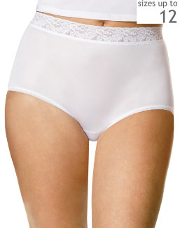 Hanes Women's Plus Nylon Brief 3-Pack women Hanes