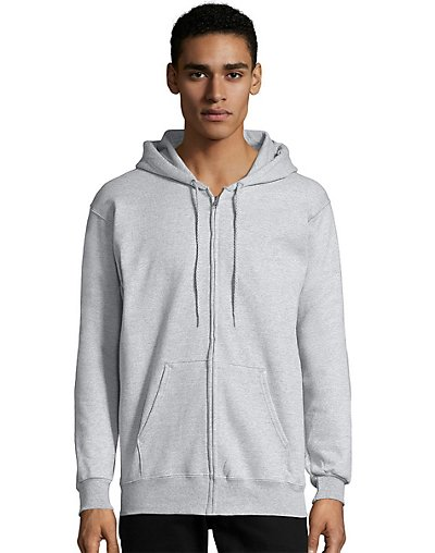 Hanes Men?ÇÖs Ultimate Cotton® Heavyweight Full Zip Hoodie (F280)