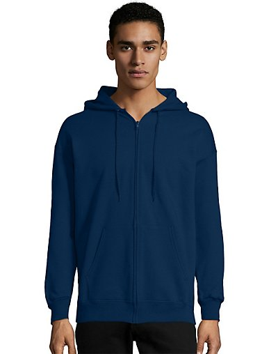 Hanes Men?ÇÖs Ultimate Cotton® Heavyweight Full Zip Hoodie (F280)