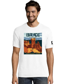 Hanes ComfortWash™ Bryce Canyon National Park Graphic Short Sleeve Tee men Hanes