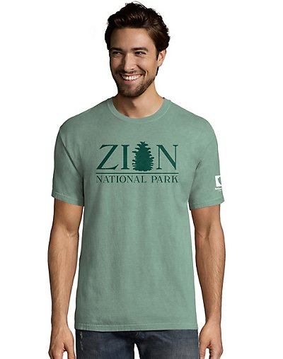 Hanes Men's ComfortWash?äó Zion National Park Short Sleeve Tee
