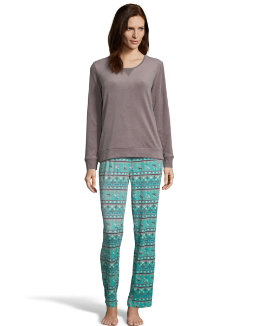 Hanes Winter Skies Sleep Set women Hanes