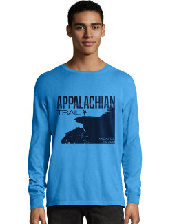 Hanes Men's ComfortWash™ Appalachian Trail McAfee Knob Long Sleeve Tee men Hanes