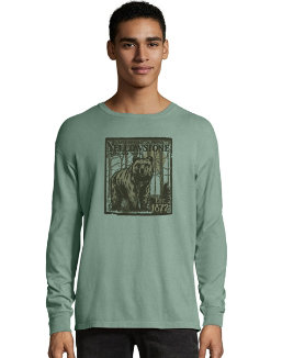 Hanes ComfortWash Yellowstone National Park Graphic Long Sleeve Tee men Hanes