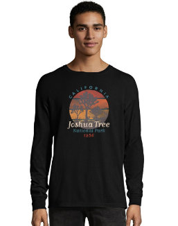 Hanes ComfortWash™ Joshua Tree National Park Graphic Long Sleeve Tee men Hanes
