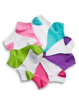 Hanes Girls' No-Show EZ Sort® Socks Assorted 10-Pack youth Hanes