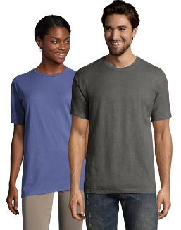 Hanes Men's ComfortWash Garment Dyed Short Sleeve Tee men Hanes