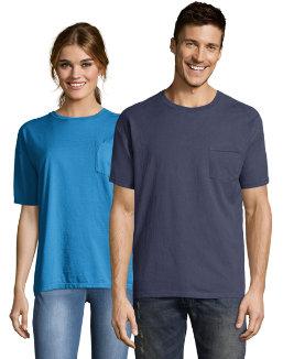Hanes Men's ComfortWash™ Garment Dyed Short Sleeve Pocket Tee men Hanes