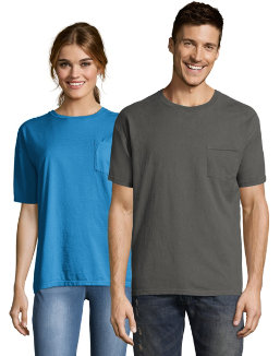 Hanes Men's ComfortWash Garment Dyed Short Sleeve Pocket Tee men Hanes