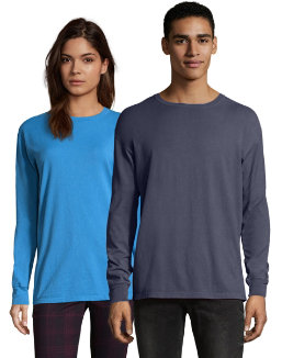 Hanes Men's ComfortWash™ Garment Dyed Long Sleeve Tee men Hanes