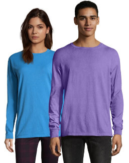 Hanes Men's ComfortWash™ Garment Dyed Long Sleeve Tee men Comfortwash