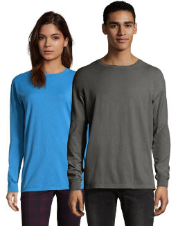 Hanes Men's ComfortWash Garment Dyed Long Sleeve Tee men Hanes