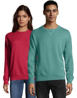 Hanes Men's ComfortWash™ Garment Dyed Fleece Sweatshirt men Comfortwash