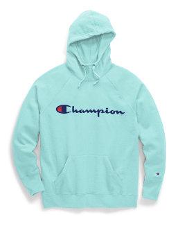 Champion Women's Plus Powerblend® Fleece Hoodie, Script Logo women Champion