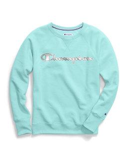 Champion Women's Powerblend® Fleece Crew, Chainstitch Logo women Champion