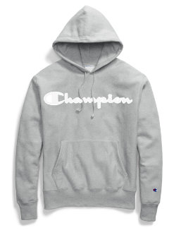 Champion Life® Men's Reverse Weave® Hoodie, Mesh & Leather Logo men Champion